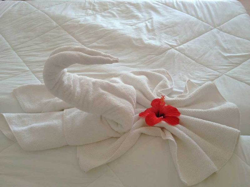 diseño toallas origami